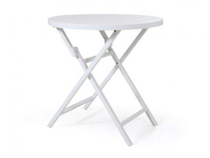 Bílý rozkládací stolek Albi