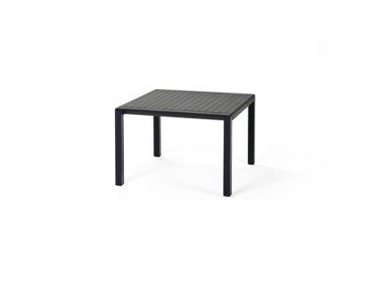 Antracitový stoleček hranatý Aria