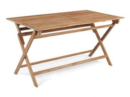 Rozkladací stôl obdĺžnikový 140x80 Teak Dax