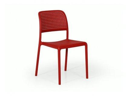 Stoličky Bora: červený polypropylén