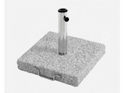Hrubý granitový základ pod deštník hranatý 40 kg