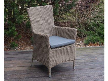 Polštář vodovzdorný na židle z umělého ratanu