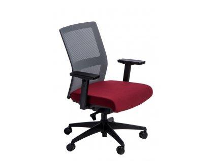 Kancelárske kreslo Press sivé / červené