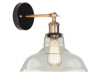 Lampa nástenná New York Loft 3 číra