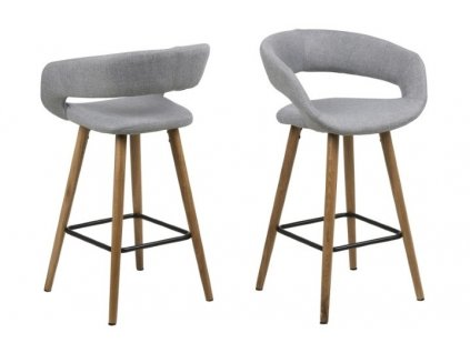 Stoličky barová Grace low svetlo sivý