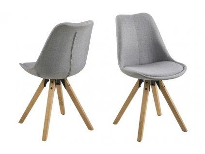 Stoličky Dima svetlo šedá