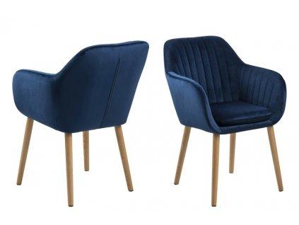 Stoličky Emilia Velvet Deep Blue