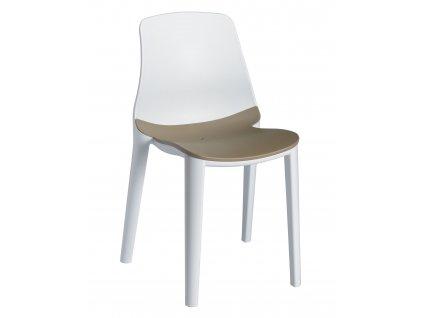 Stoličky lýza bielo - béžová