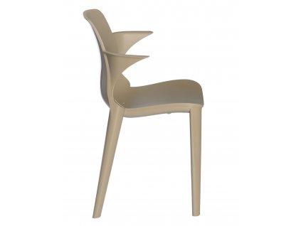 Stolička s podložkou lýza béžová