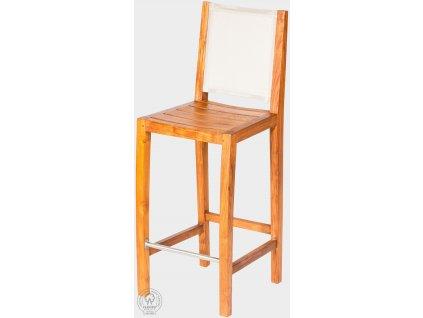 Teaková barová stolička s batyline výpletom MERY