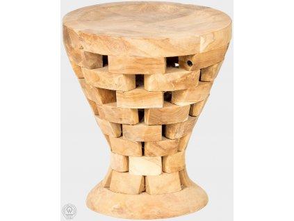 Teaková stolička priemer 40 cm Pinch