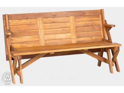 Teaková rozkladacie lavice Skladacie lavice-stôl MORENO