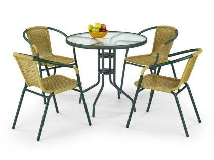 GRAND 80 stôl tmavo zelený