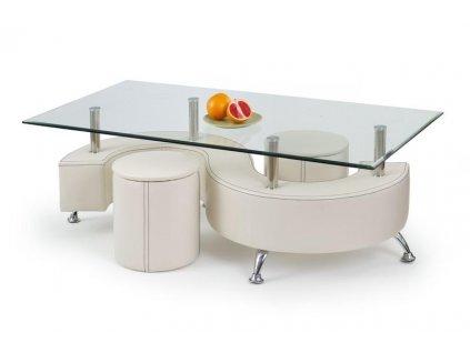 NINA 3 H stolík konferenčný biely
