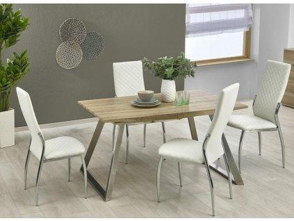 TREVOR stôl dub Sonoma / biely