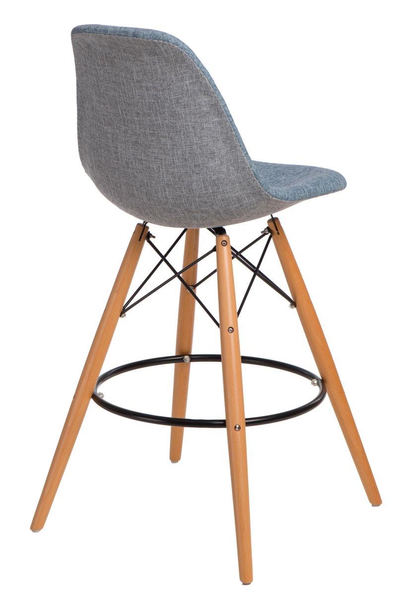 Barová stolička P016V Duo modrá sivá