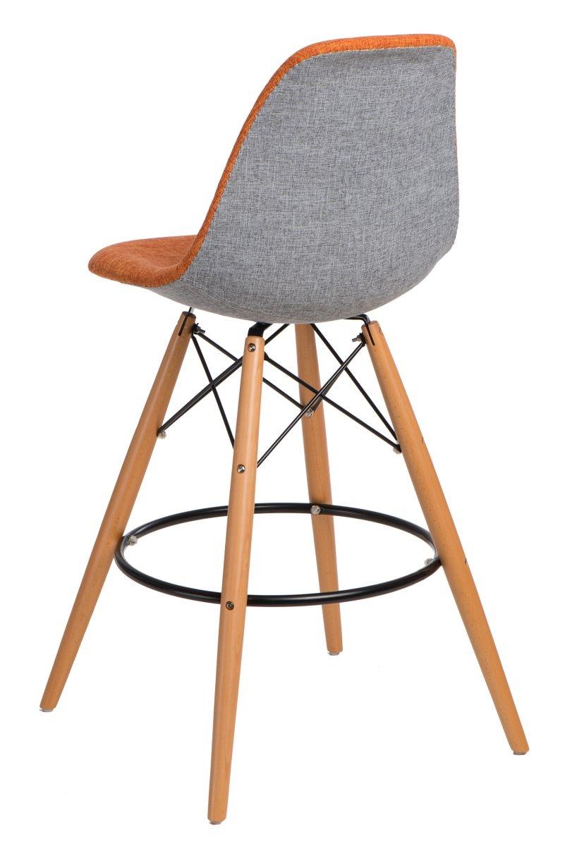 Barová stolička P016V Duo oranžová šedá