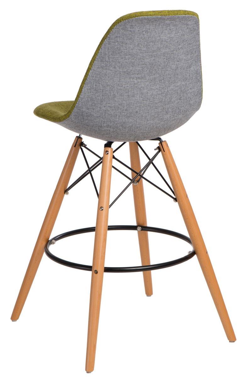 Barová stolička P016V Duo zelená šedá