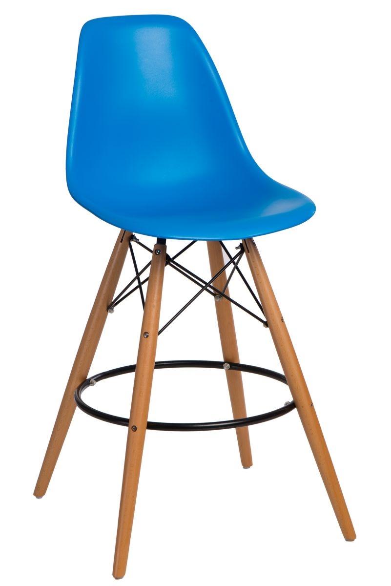Barová stolička P016V PP modrá