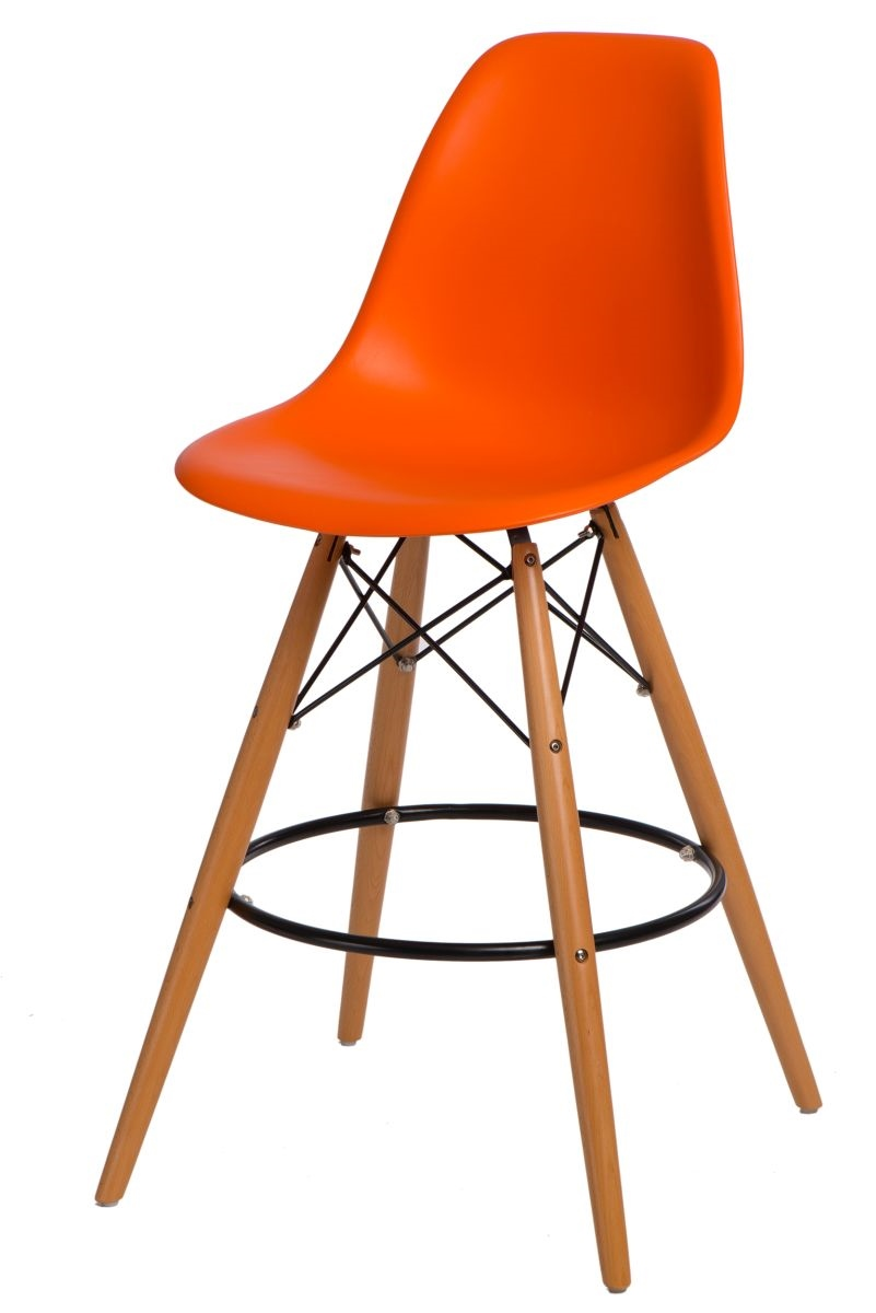 Design2 Barová stolička P016V PP oranžová