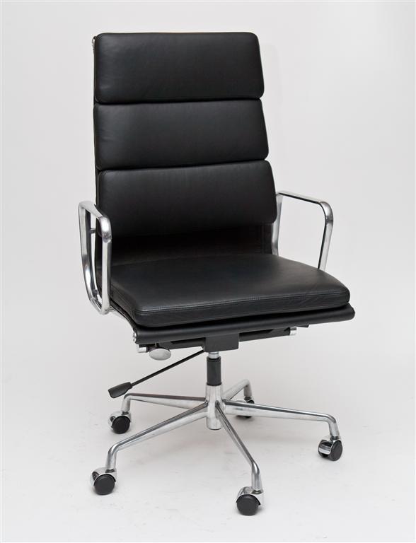 Kancelárske kreslo CH2191T čierna koža chróm