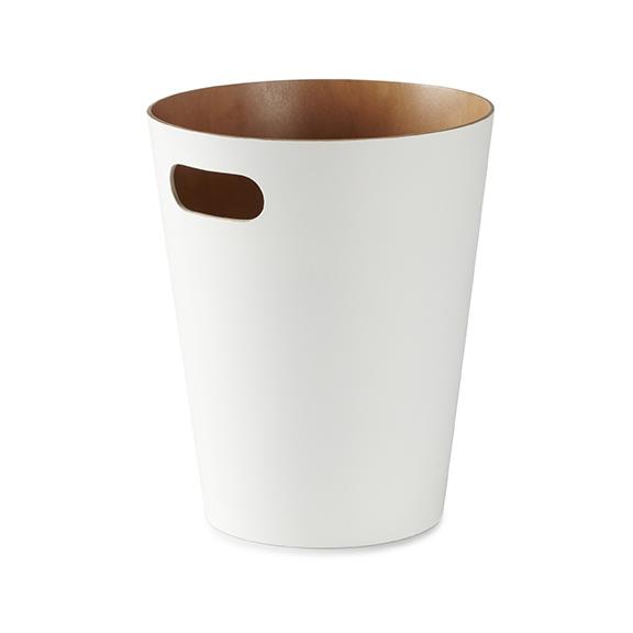 Design2 Kôš na odpadky Woodrow biely / prírodný