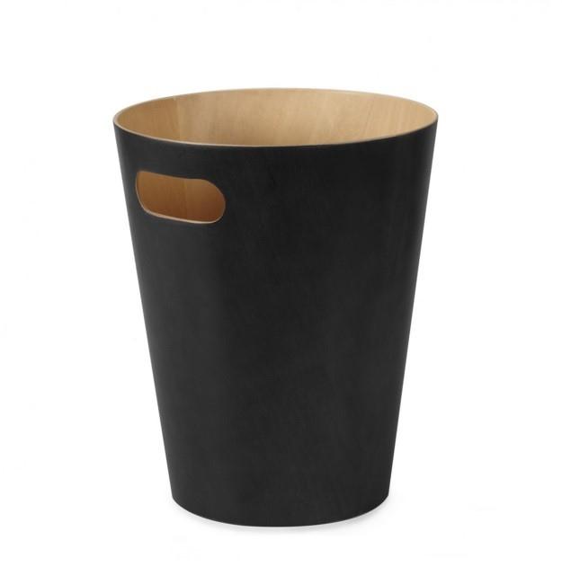Design2 Kôš na odpadky Woodrow čierny
