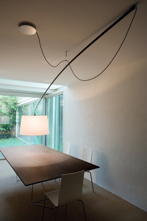 Luster - Lampa Robinson tienidlo biele, sr. 64 cm