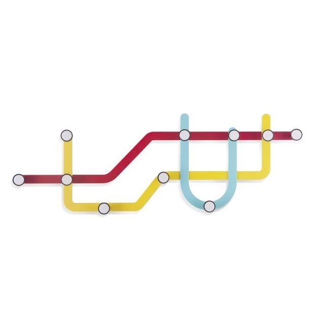 Vešiak Subway multikolor