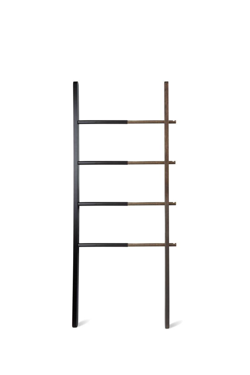 Vešiak rebrík Hub Ladder čierny / orech