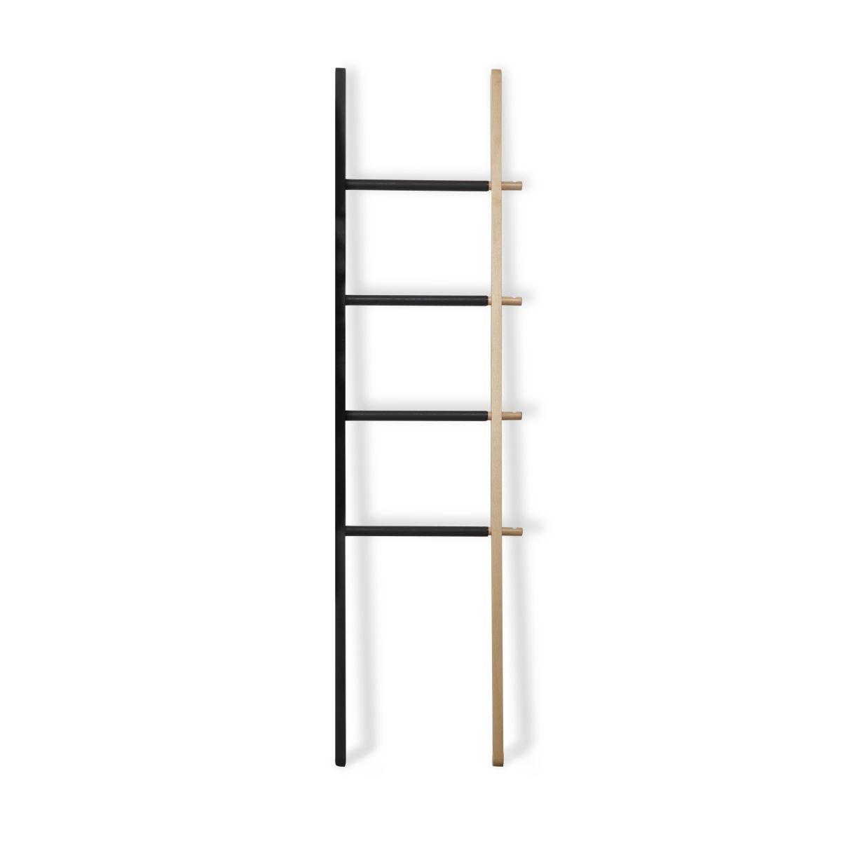 Vešiak rebrík Hub Ladder čierny / príroda