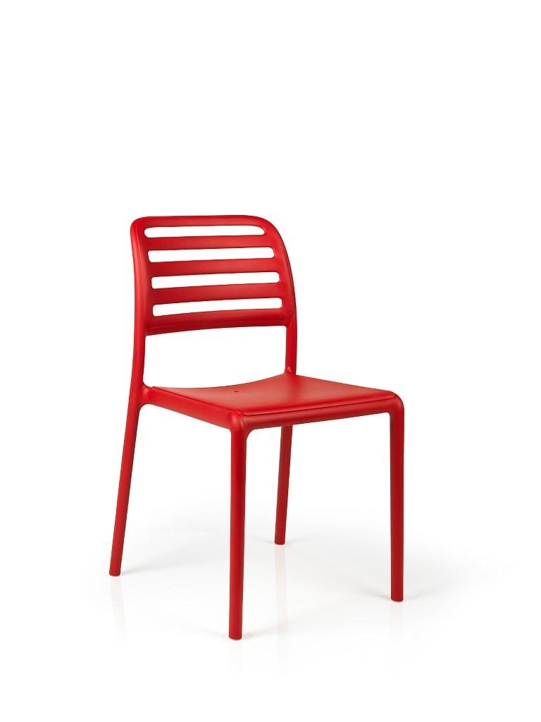 Stoličky Costa červená