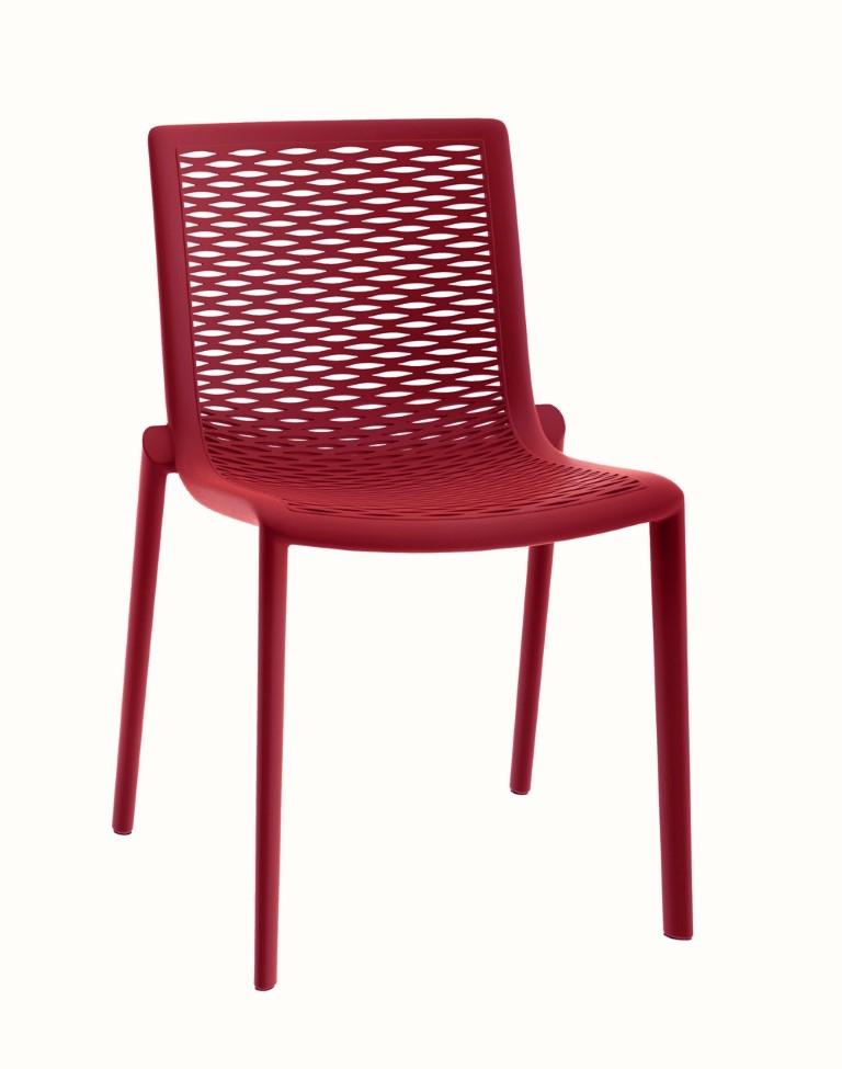 Stoličky NETKAT červená