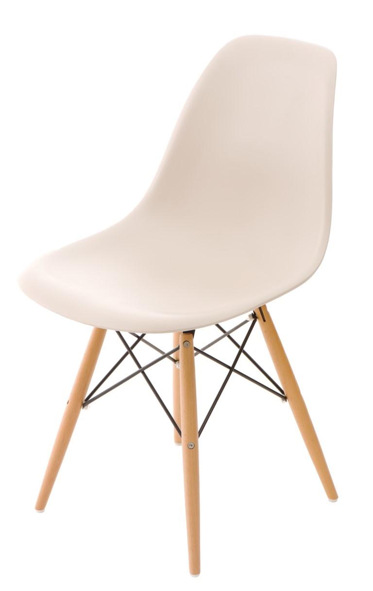 Stoličky P016V PP béžová, drevené nohy