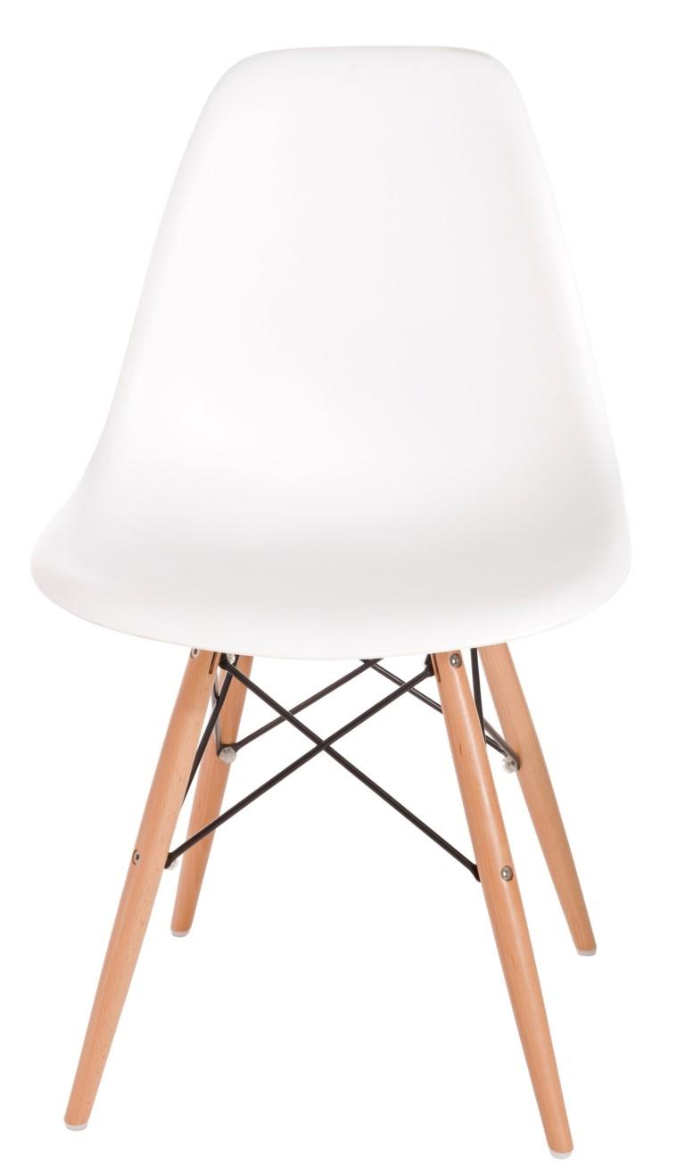 Stoličky P016V PP biela, drevené nohy