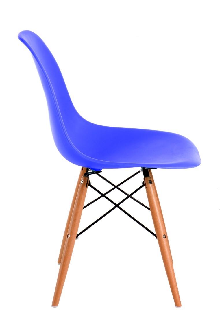 Stoličky P016V PP modrá, drevené nohy