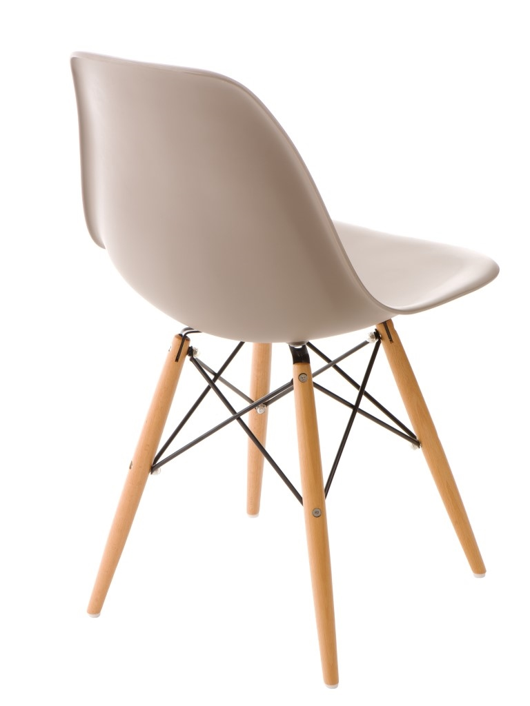 Stoličky P016V PP mierne Šedá, drevené nohy
