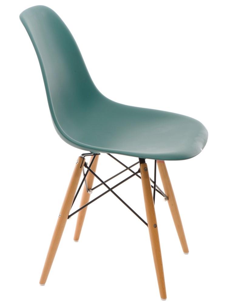 Stoličky P016V PP navy zelená, drevené nohy