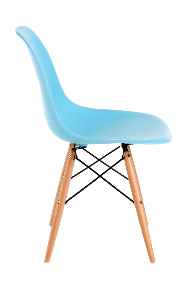Stoličky P016V PP oceán modrá, drevené nohy