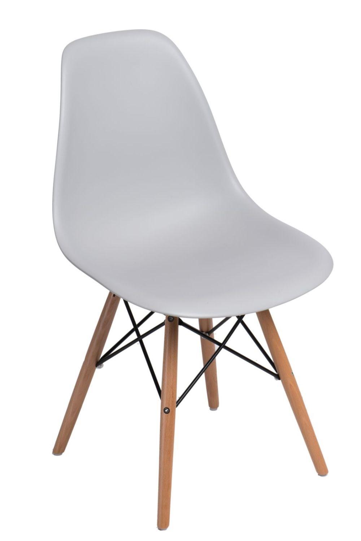 Stoličky P016V PP svetlá Šedá, drevené nohy
