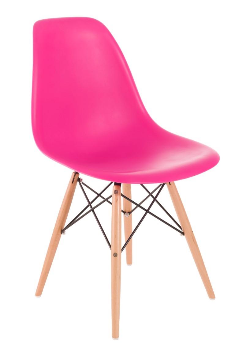 Stoličky P016V PP tmavá ružová, drevené nohy