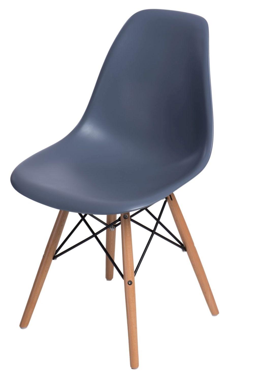 Stoličky P016V PP tmavá Sivá, drevené nohy