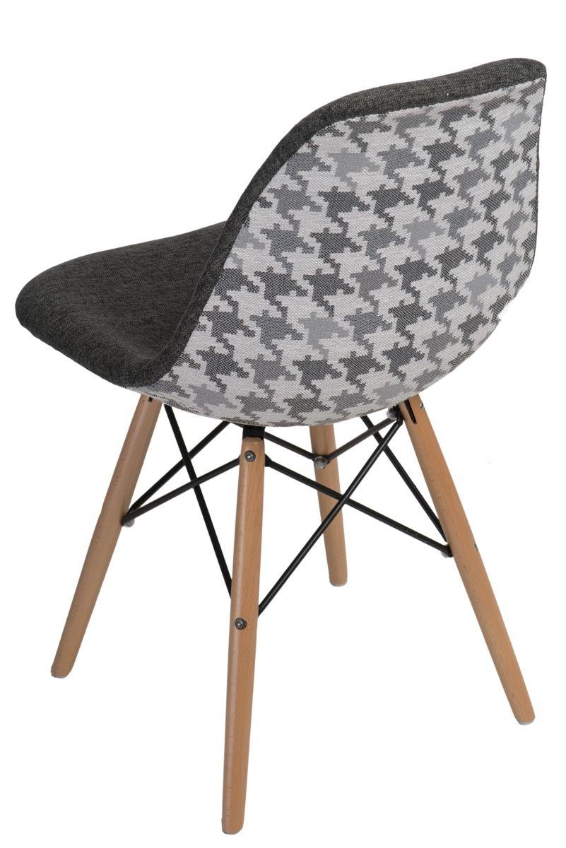 Stoličky P016V Vzor sivá / pepito