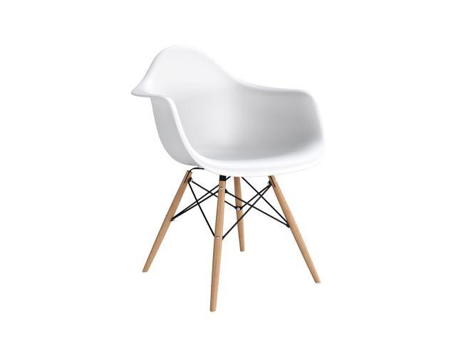 Design2 Stoličky P018V PP biela, drevená nohy HF