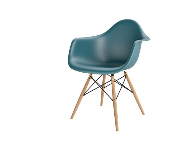 Stoličky P018V PP navy zelená drevené nohy