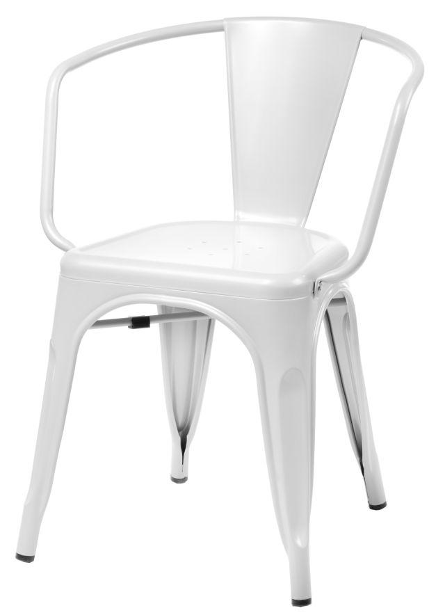 Stoličky Paris Arms biela inšpirované Tolix