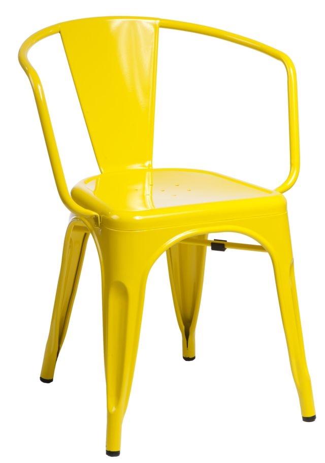 Stoličky Paris Arms žltá inšpirované Tolix