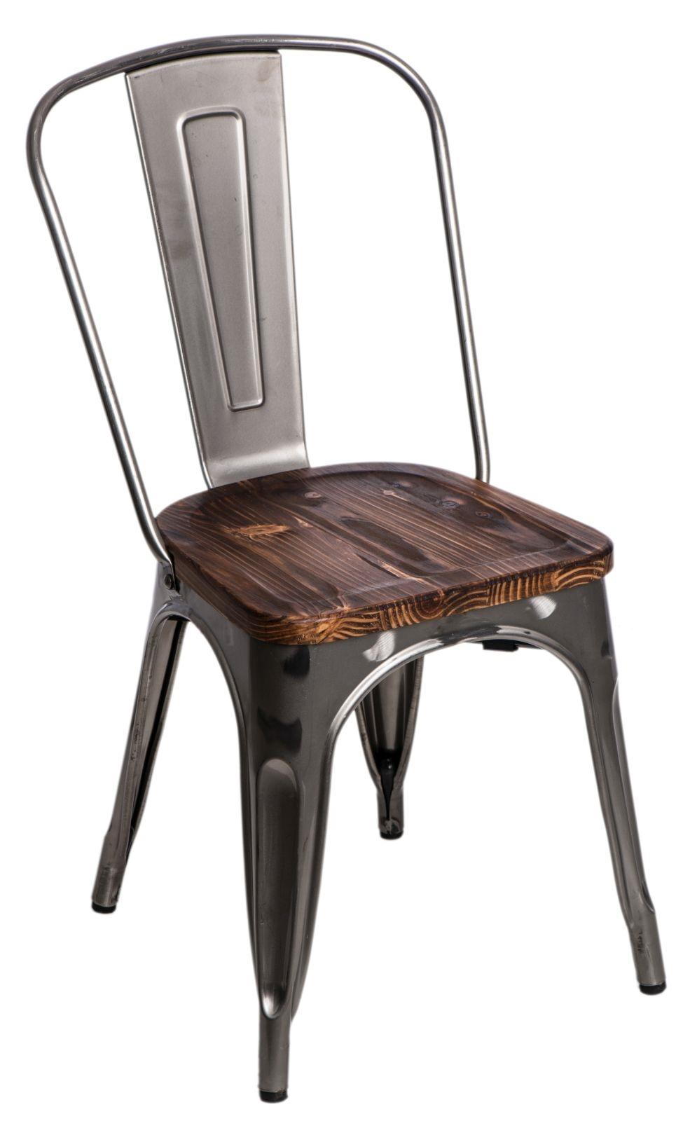Stoličky Paris Wood metalická sosna