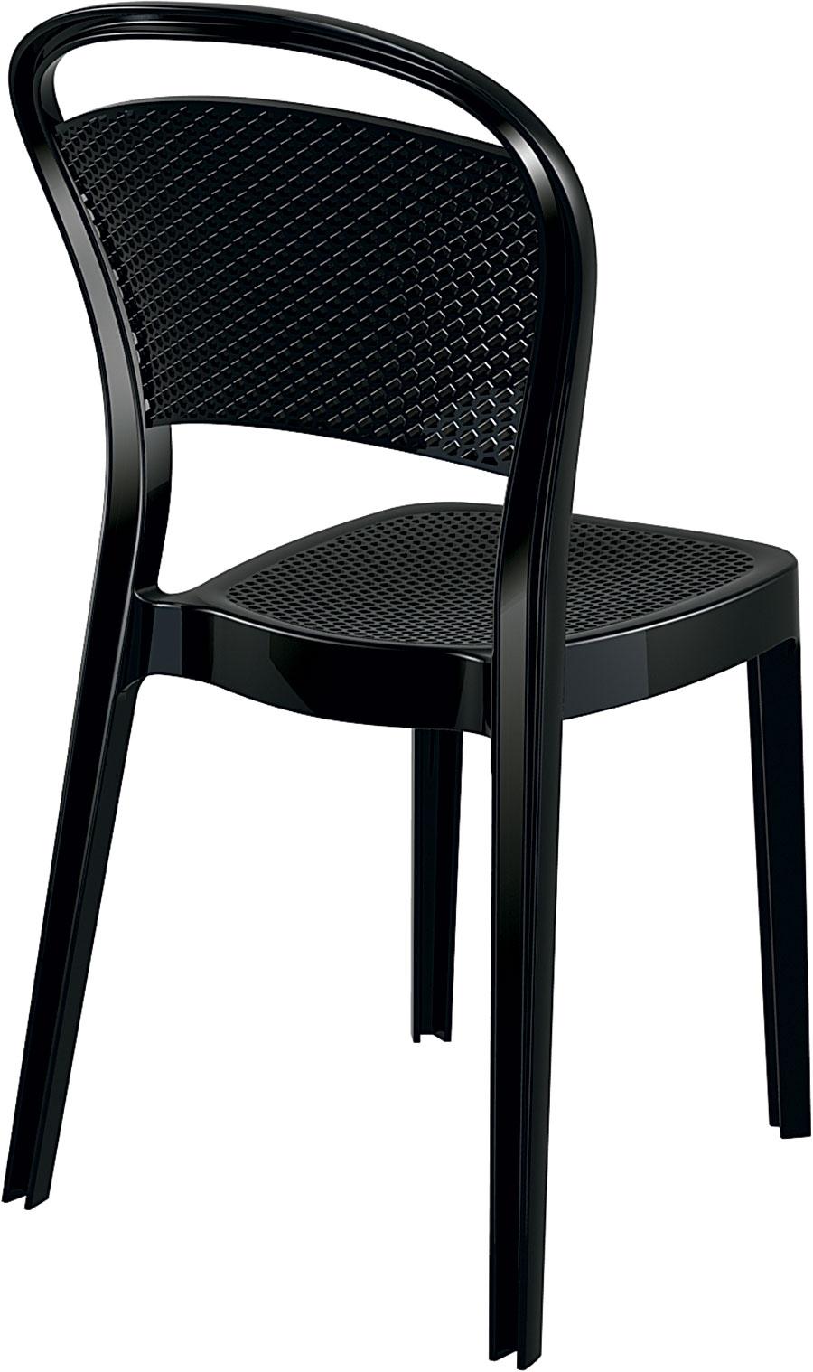 Design2 Stoličky Visual čierna