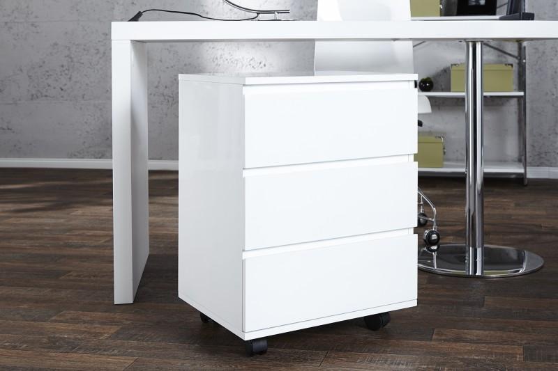 Malý kontajner pod písací stôl Lumina biely